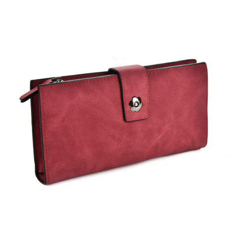 Women's Clutch Brief Style Buckle Faddish All Match Bag - RED
