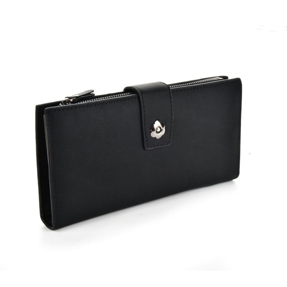 Women's Clutch Brief Style Buckle Faddish All Match Bag - BLACK