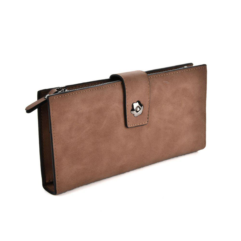 Women's Clutch Brief Style Buckle Faddish All Match Bag - BROWN