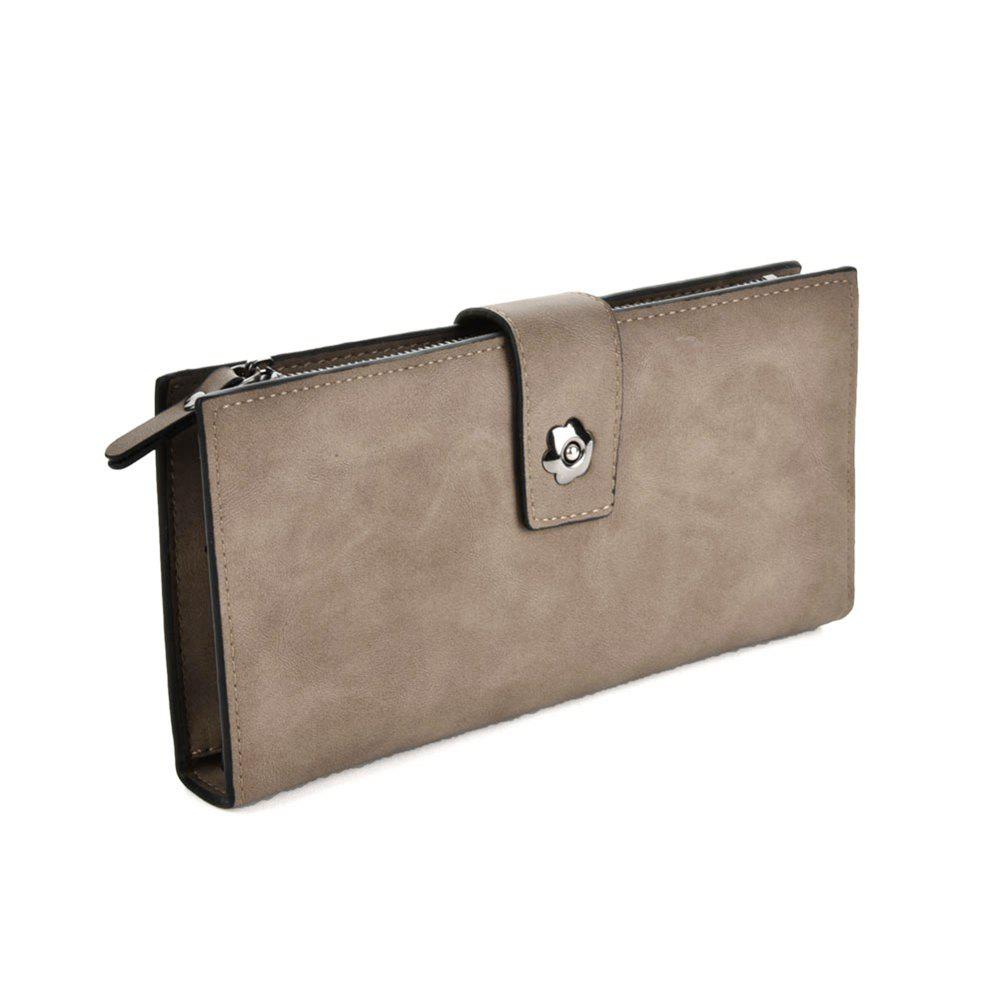 Women's Clutch Brief Style Buckle Faddish All Match Bag - LIGHT GRAY