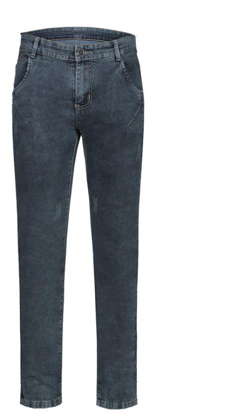 Men's Summer Micro-Elastic Slim Jeans - LIGHT GRAY 34