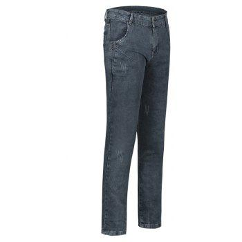 Men's Summer Micro-Elastic Slim Jeans - LIGHT GRAY 36