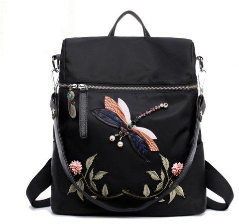 d45e376a6b Dragonfly Women Backpack 2017 Woman Casual High Quality Backpacks School  Bags For Girls Embroidery Flower -
