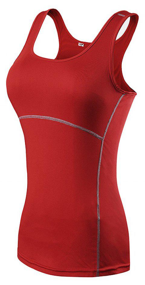 Sports Skinny Formation Sport Fitness Running Yoga Speedy Gilet - Rouge L