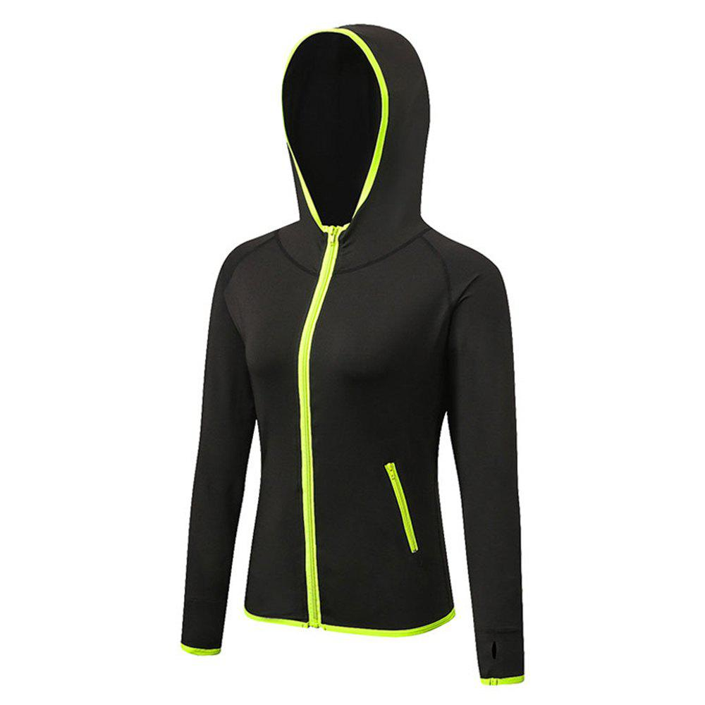 Women's Sports Yoga Stitching Colors Zipper Quick-Drying Jacket - IVY L