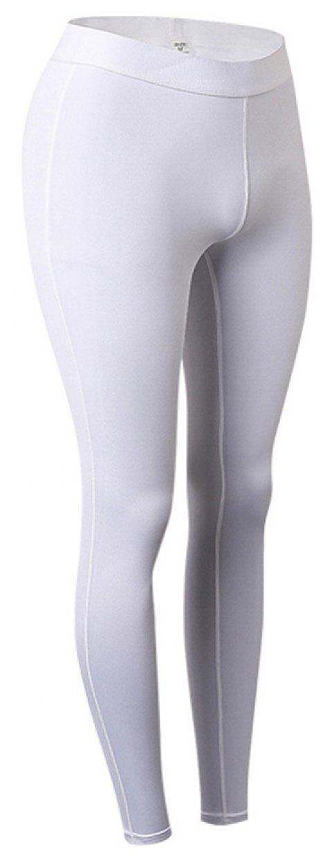 Women Sports Fitness Yoga Wicking Trousers - WHITE 2XL