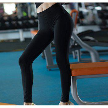 Women Sports Fitness Yoga Wicking Trousers - BLACK M