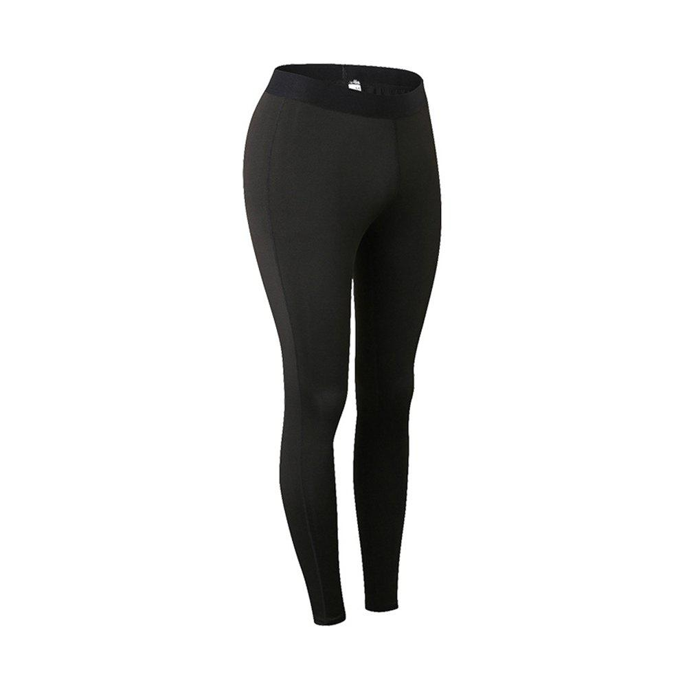 Femme Sports Fitness Yoga Wicking Pantalon - Noir 2XL