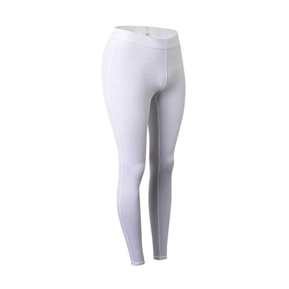 Femme Sports Fitness Yoga Wicking Pantalon - Blanc 2XL