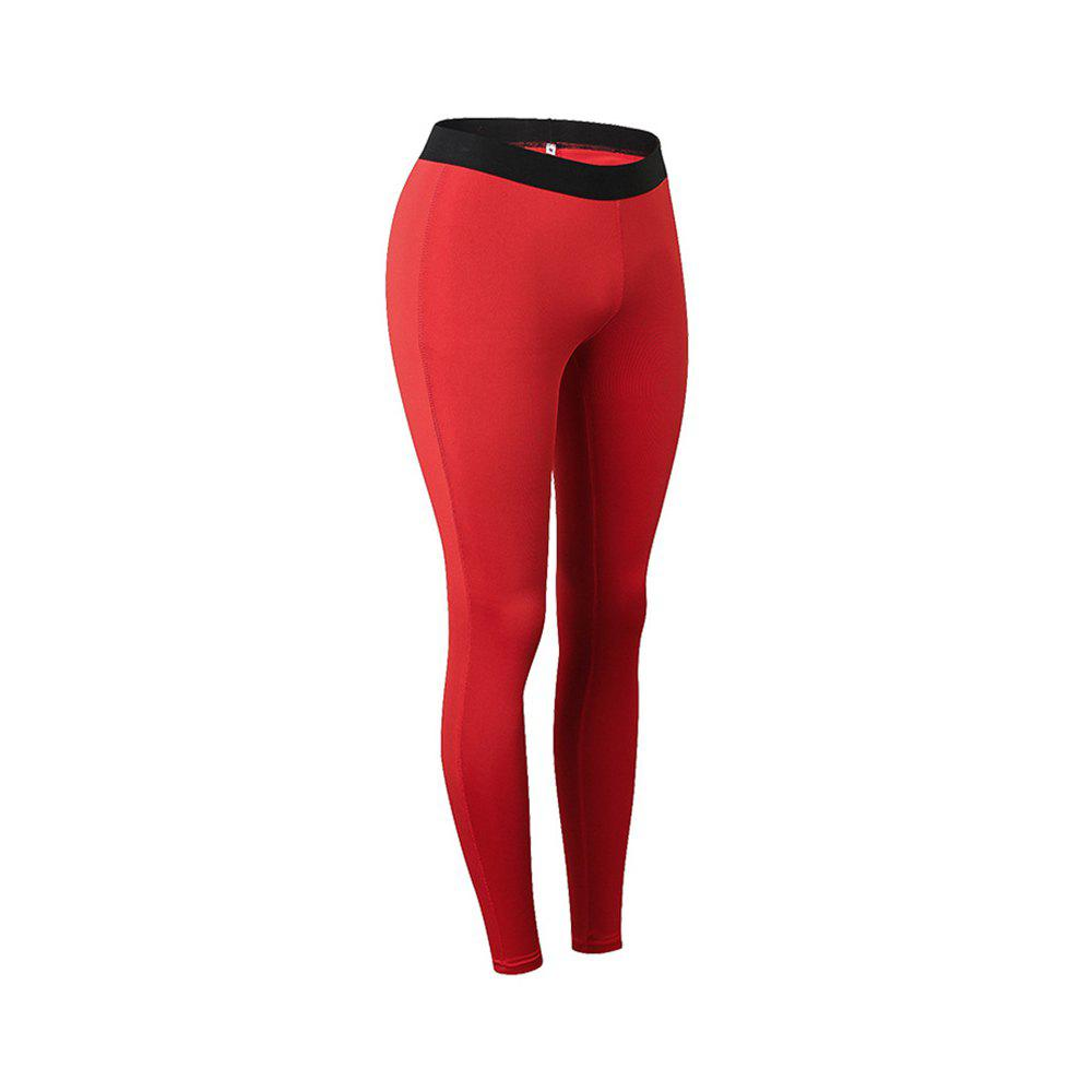 Women Sports Fitness Yoga Wicking Trousers - RED M