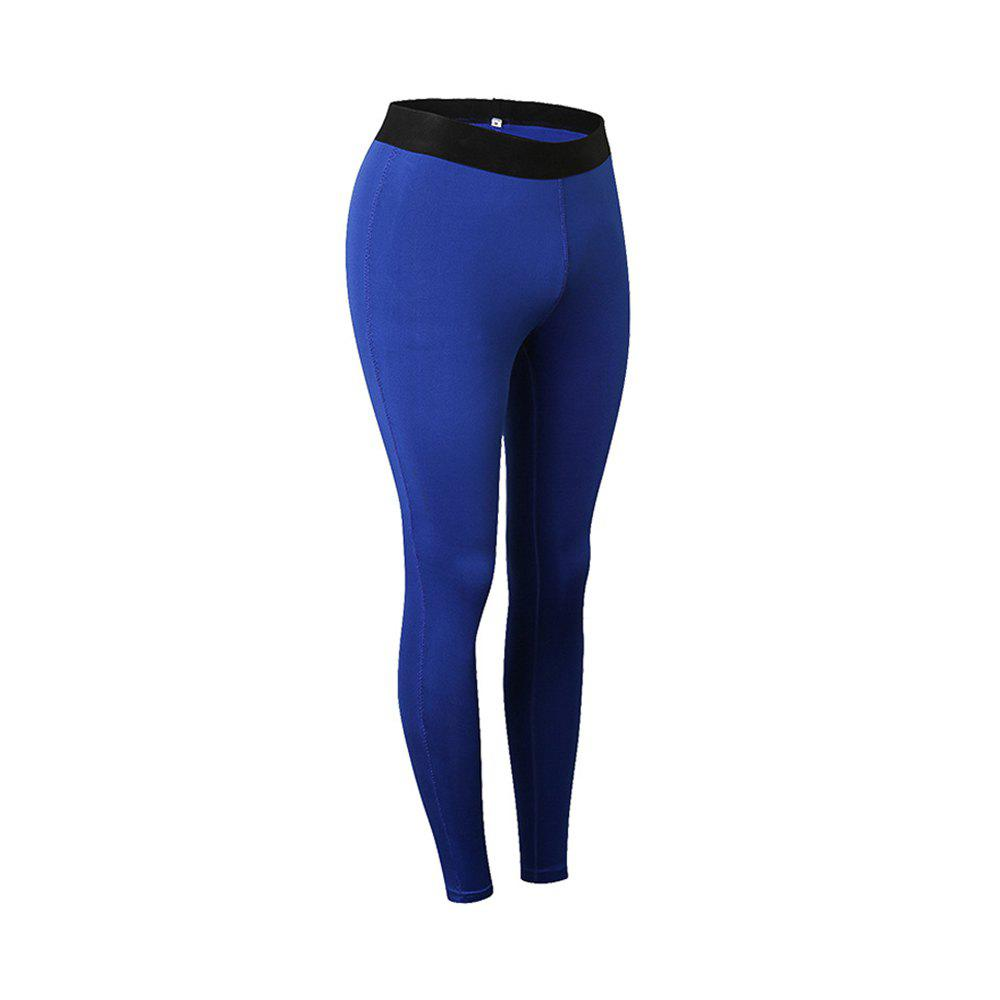 Femme Sports Fitness Yoga Wicking Pantalon - Bleu 2XL