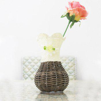 Table Top Decoration Hand-Woven Vase - IVY 10X10X18