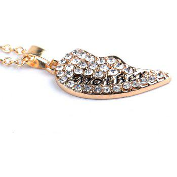 Women's Fashion Necklace Elegant Heart Shaped Gemstones Chic Accessory - GOLDEN