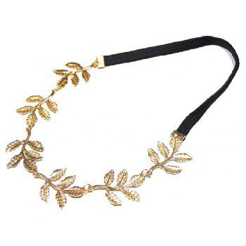 Fashion Tiara Noiva Metal Gold Chain Flower Leaf Hairband For Wedding Bridal Hair Accessory Women Forehead Jewelry - GOLDEN 1PC