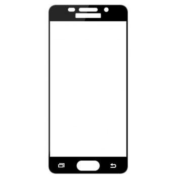 2PCS Screen Protector for Samsung Galaxy A3 2016 HD 3D Full Coverage Anti-Explosion High Sensitivit Tempered Glass - BLACK