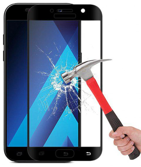 2PCS Screen Protector for Samsung Galaxy A3 2017 HD 3D Full Coverage Anti-Explosion High Sensitivit Tempered Glass - BLACK
