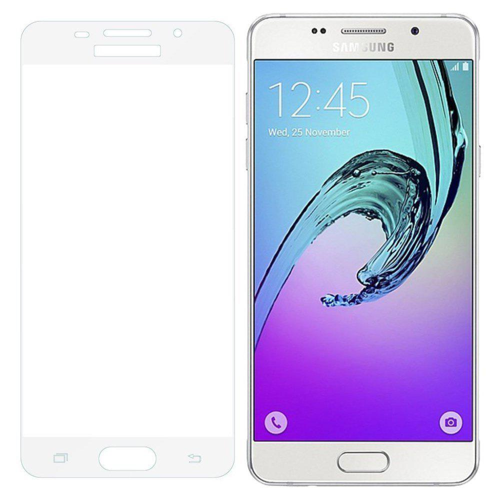 2PCS Screen Protector for Samsung Galaxy A5 2016 HD 3D Full Coverage Anti-Explosion High Sensitivit Tempered Glass - WHITE