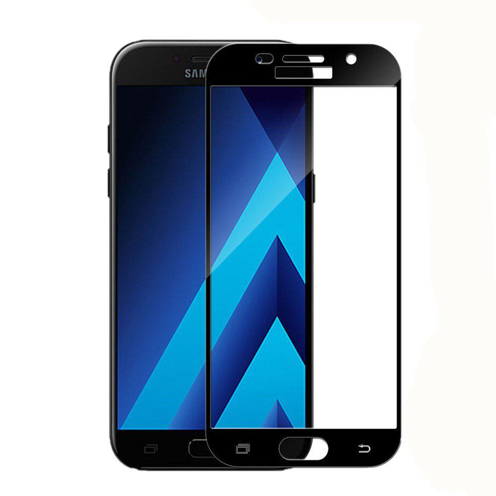 2PCS Screen Protector for Samsung Galaxy A5 2017 HD 3D Full Coverage Anti-Explosion High Sensitivit Tempered Glass - BLACK