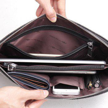 Men's Leather Pattern Clutch Bag Large Business Wallet Purse - COFFEE