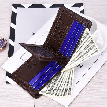 Men's Short Section Leather Wallet Zipper Male Multi-Card Package - COFFEE