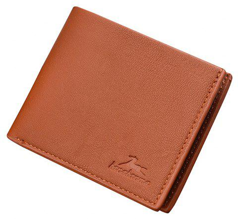 New Business Leather Men's Short Wallet - LIGHT COFFEE