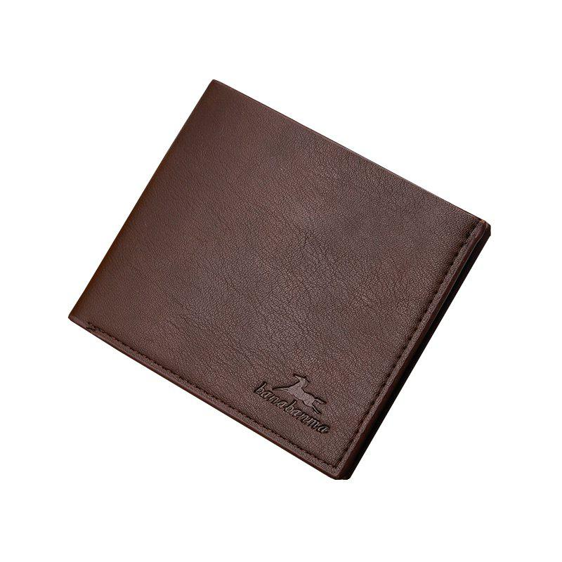 New Business Leather Men's Short Wallet - DARK COFFEE