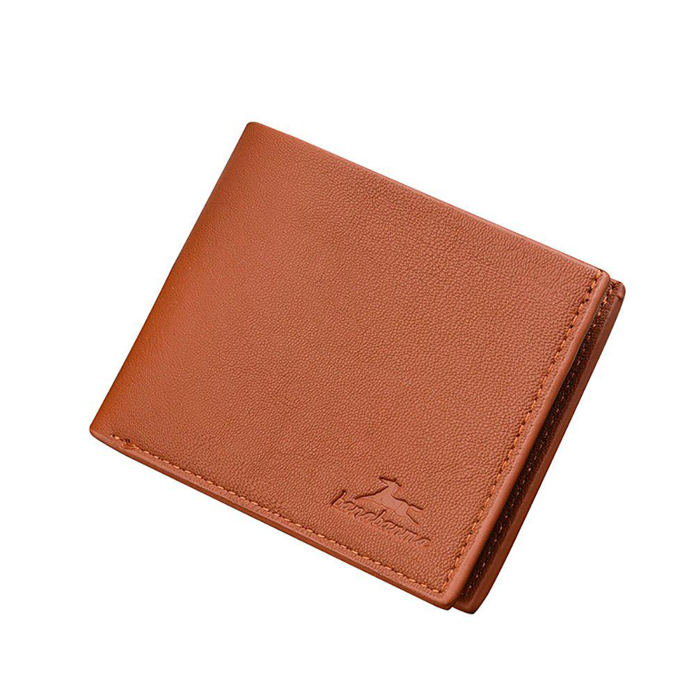 Portefeuille court New Business Leather Men's - Café Clair