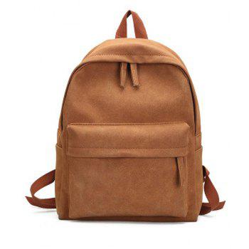 Unisex Backpack Solid Color Simple Style Casual