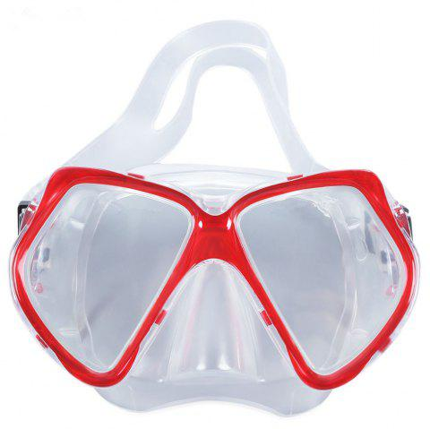 Eco-friendly Adult Diving Mask - RED
