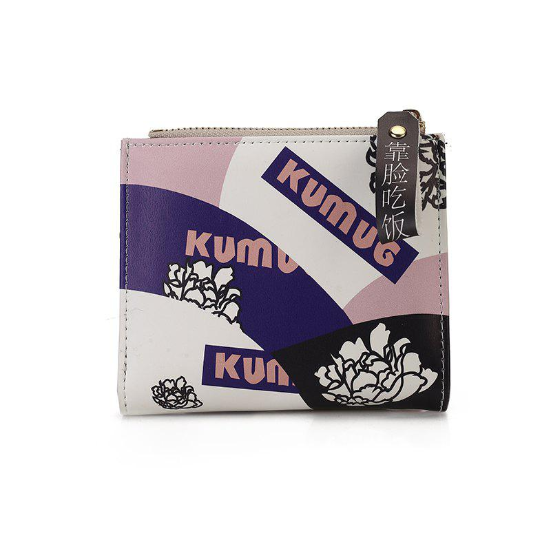 Female New Short Zipper Purse - PURPLE