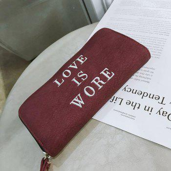 Small New Female Long Fresh Slim Personality Wallet - RED