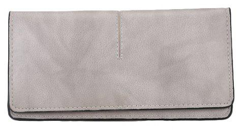Women's New Long Thin Section Simple Clutch - GRAY