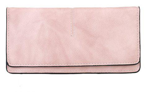 Women's New Long Thin Section Simple Clutch - PINK