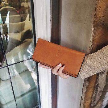 Women's New Long Thin Section Simple Clutch - CAMEL