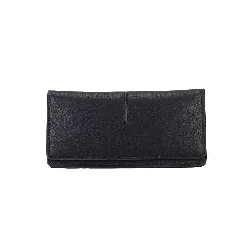 Women's New Long Thin Section Simple Clutch - BLACK