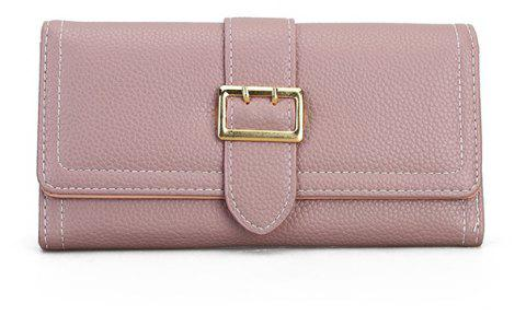 The New Female Long Simple Fashion Leisure Wallet - PINK