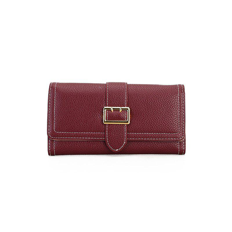 The New Female Long Simple Fashion Leisure Wallet - RED