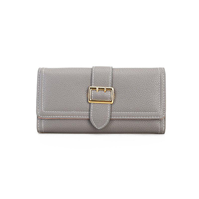 The New Female Long Simple Fashion Leisure Wallet - GRAY