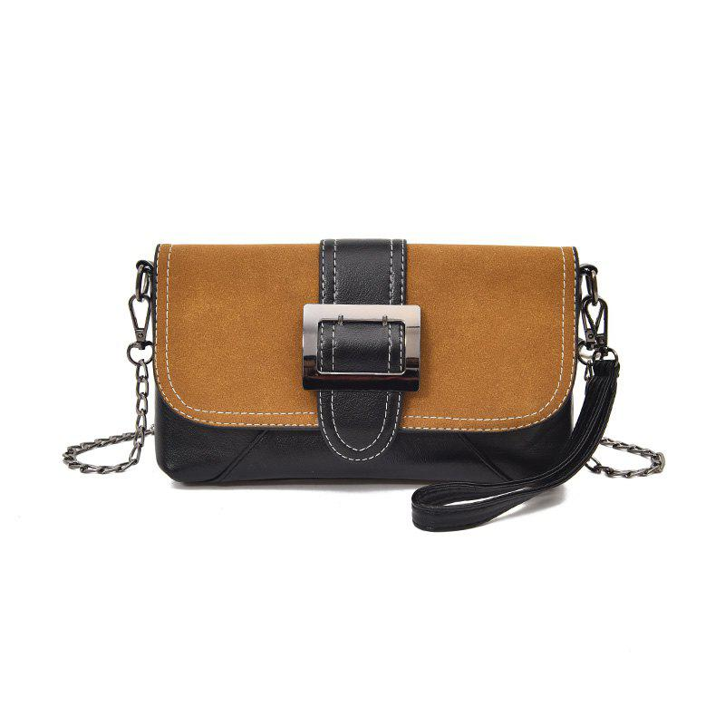 Female New Fashion Chain Envelope Wild Clutch - BROWN
