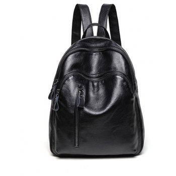 Lightweight Women PU Leather Backpack Casual Shoulder
