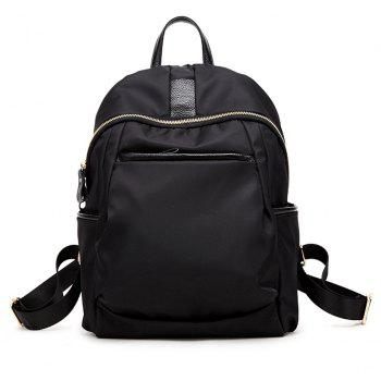 Waterproof Nylon with Leather Large Capacity Backpack
