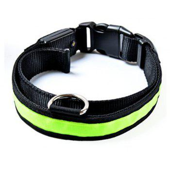 Yeshold Flashing LED Pet Dog Collar Safety Night Walking - GREEN