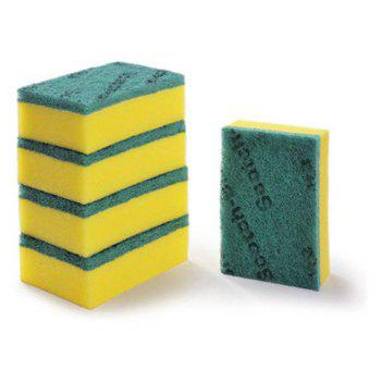 3M Cleaning Sponge Cloth for General Kitchen Utensils 5 Per Pack - GREEN