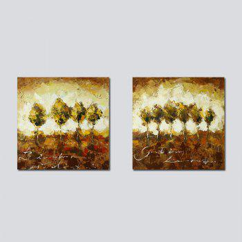 QiaoJiaHuaYuan No Frame Canvas Living Room Sofa Background two Sets of Picture Bedroom Study Abstract Hanging Picture - COLORMIX