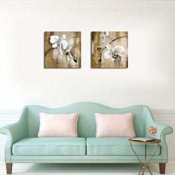 QiaoJiaHuaYuan Frameless Canvas Background two Couplet of Sitting Room Sofa set Abstract Flower  Decoration Hangs a Pict - COLORMIX