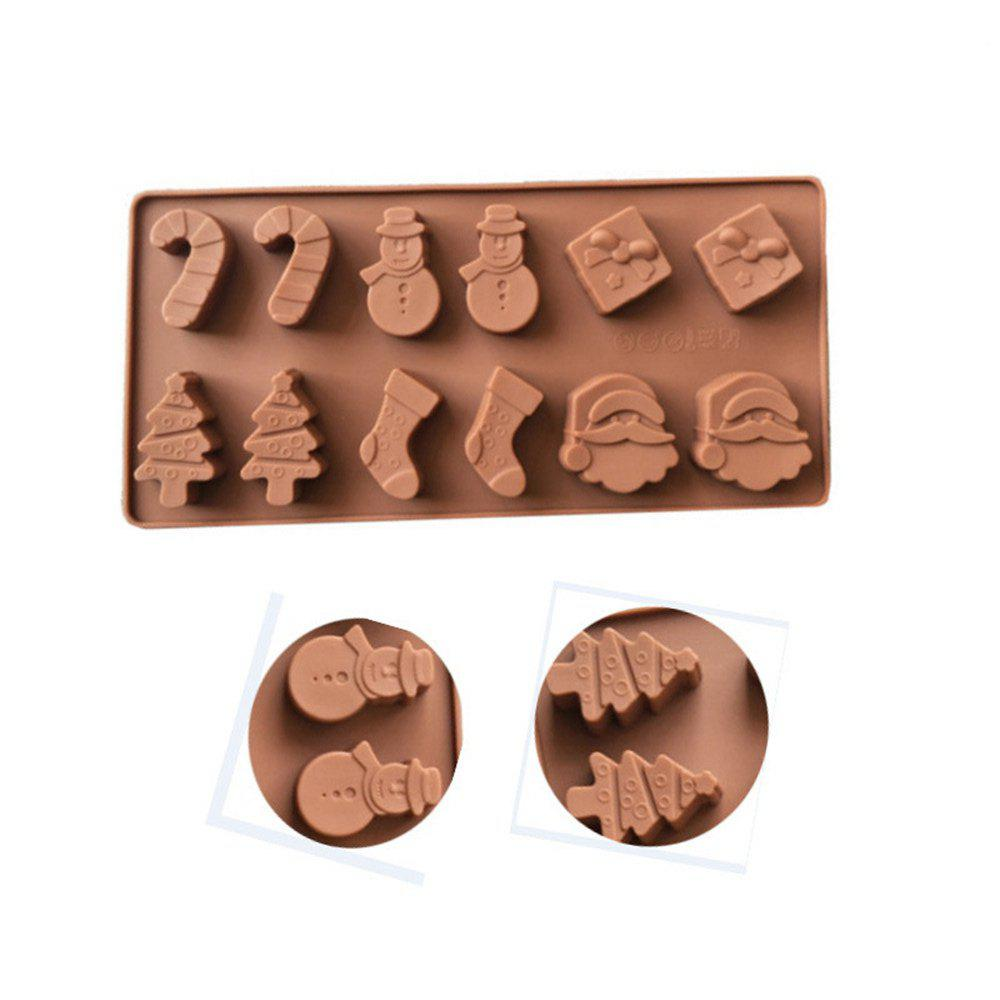 WS 0240 Christmas Chocolate Cake Ice Mold - COFFEE