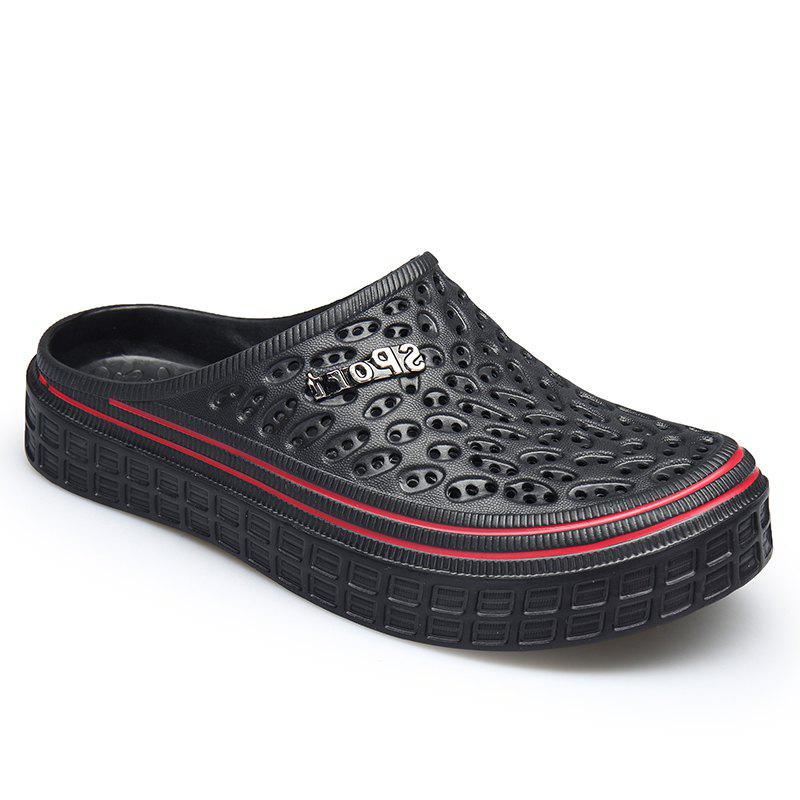 Lovers Outdoor Beach Non-slip Slipers - BLACK 45