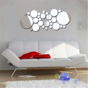 Mirror Wall Stickers Stickers Owl 3D Stereo Environmental Protection Material Can Be Customized with A Removable Adhesiv - SILVER 15X20CM