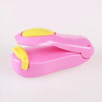Portable Household Mini Seal Confidentiality Sealing Machine for Food Plastic Bag - PINK 10X5CM