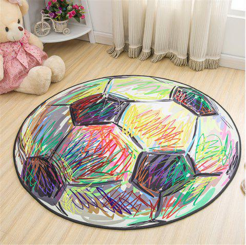 60cm Carpet Round Kids Gym Rug Play Game Mat Baby Crawling Blanket Outdoor Pad Room Decor - multicolorCOLOR